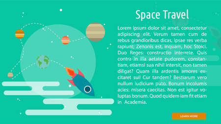 space travel: Space Travel Conceptual Banner