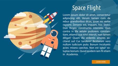 space flight: Space Flight Conceptual Banner