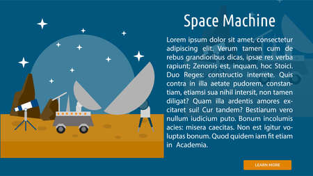 Space Machine Conceptual Banner