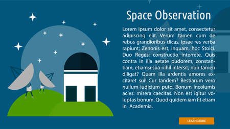Space Observation Conceptual Banner