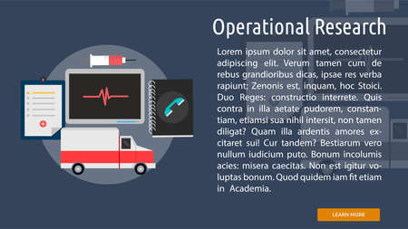 operational: Operational Research Conceptual Banner Illustration