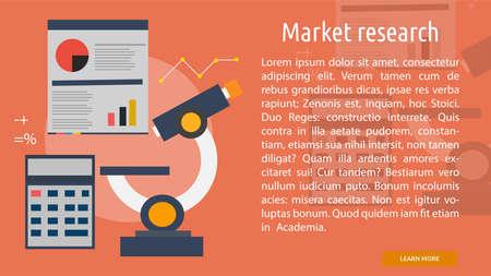 市場調査の概念的なバナー