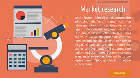 Market research Conceptual Banner