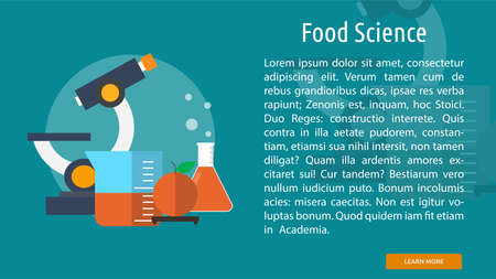 food science: Food Science Conceptual Banner Illustration