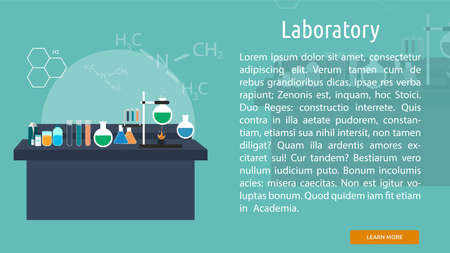 Laboratory Conceptual Banner