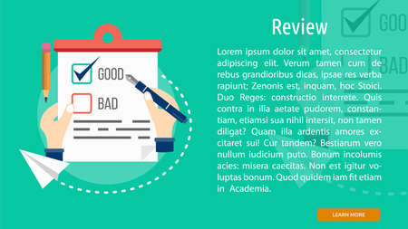 review: Review Conceptual Banner Illustration