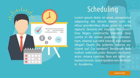 scheduling: Scheduling Conceptual Banner Illustration