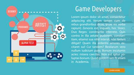 Game Developers Conceptual Banner Ilustração