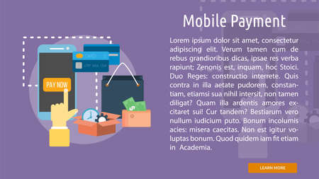 mobile payment: Mobile Payment Conceptual Banner