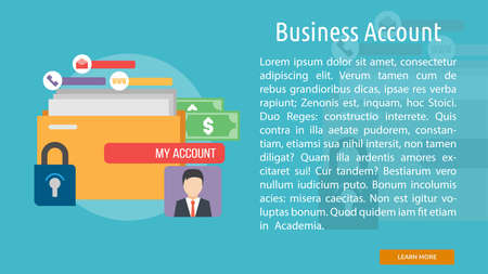 Business Account Conceptual Banner