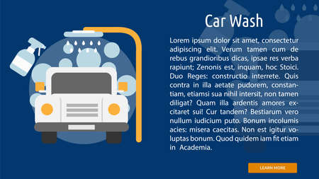 wash: Car Wash Conceptual Banner
