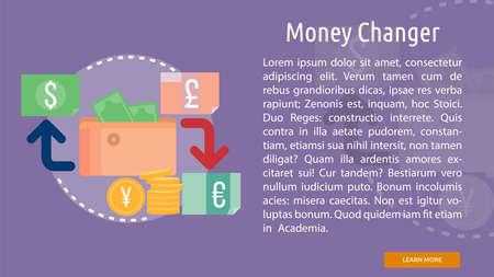 Money Changer Conceptual Banner
