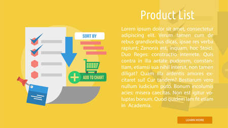 Product List Conceptual Banner