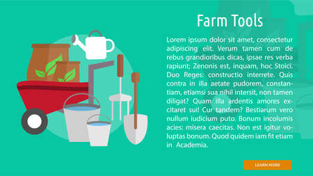 Farm Tools Conceptual Banner