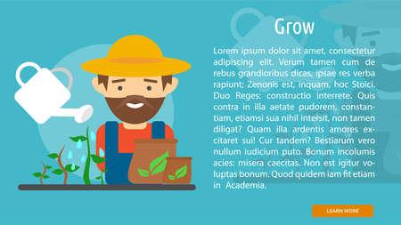 Grow Conceptual Banner