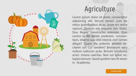 농업 개념적 배너 일러스트