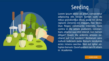 seeding: Seeding Conceptual Banner Illustration