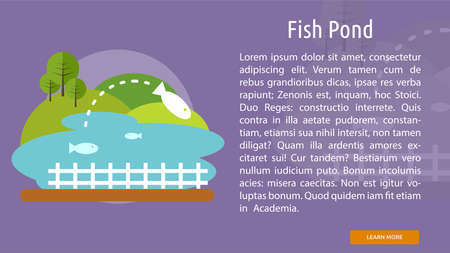 fish pond: Fish Pond Conceptual Banner