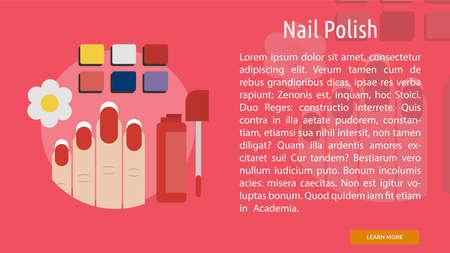 polish: Nail Polish Conceptual Banner Illustration