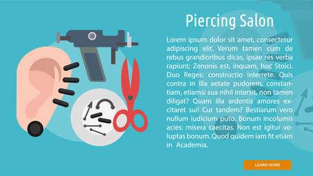 Piercing Salon Conceptual Banner