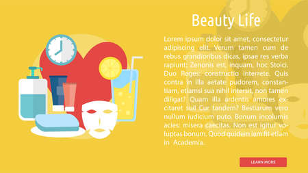 Beauty Life Conceptual Banner Ilustracja