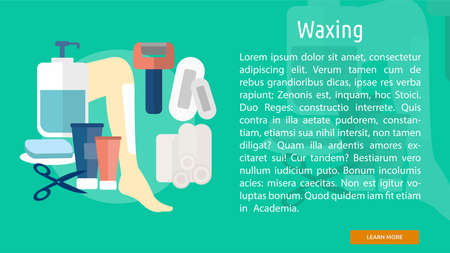 waxing: Waxing Conceptual Banner Illustration