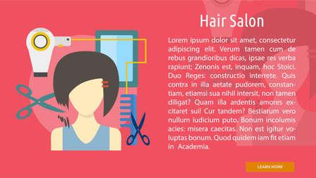 Salon Conceptual Banner Illusztráció