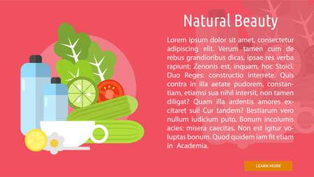 Natural Beauty Conceptual Banner Ilustração