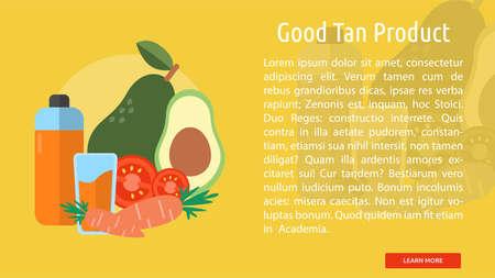 Good Tan Product Conceptual Banner