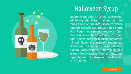 Halloween Syrup Conceptual Banner