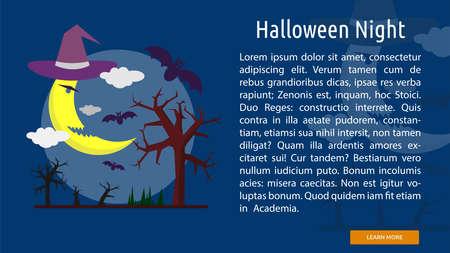 Halloween Night Conceptual Banner
