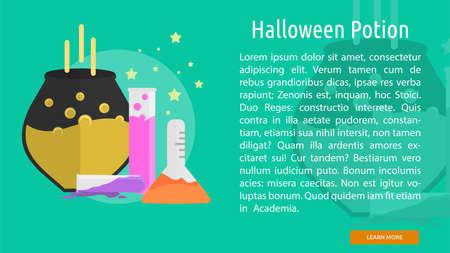 Halloween Potion Conceptual Banner