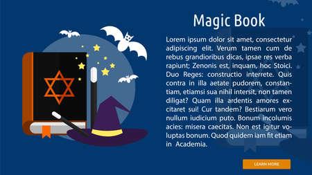 Magic Book Conceptual Banner