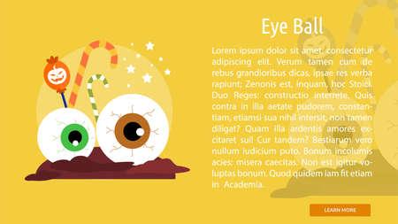Eye Ball Conceptual Banner