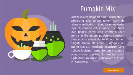 mix: Pumpkin Mix Conceptual Banner
