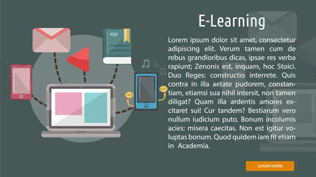 E-learning conceptuele banner