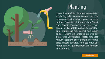 Planting Conceptual Banner