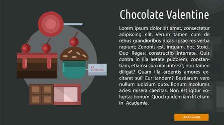 Chocolate Valentine Conceptual Banner Иллюстрация