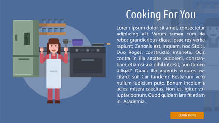 Cooking for You Conceptual Banner