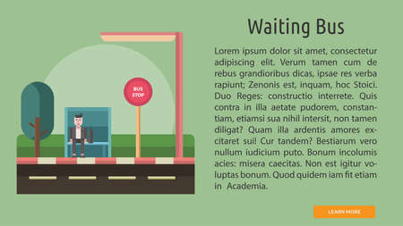 Waiting Bus Conceptual Banner