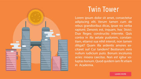 Twin Tower Conceptual Banner