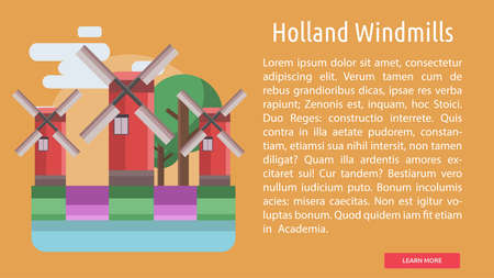 Holland Windmills Conceptual Banner
