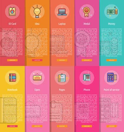 vertical banner: Business Vertical Banner Concept Illustration