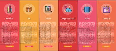 Business Vertical Banner Concept Illustration