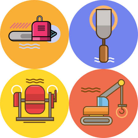 Construction Icon Set Stock fotó - 71400429