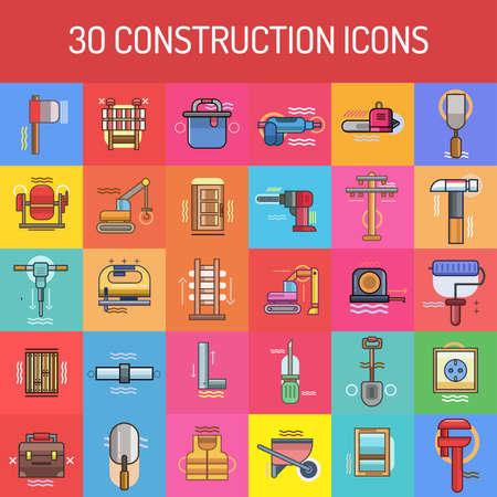 caulk: Construction Icon Set