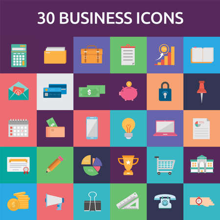 Business Icons Set 向量圖像