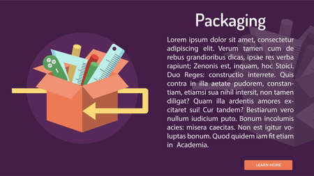 Packaging Conceptual Banner Иллюстрация