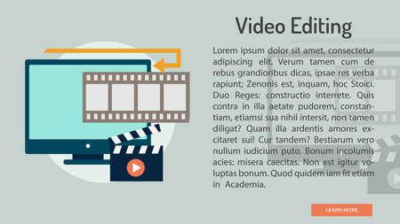 Video Editing Conceptual Banner