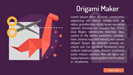 Origami Maker Conceptual Banner